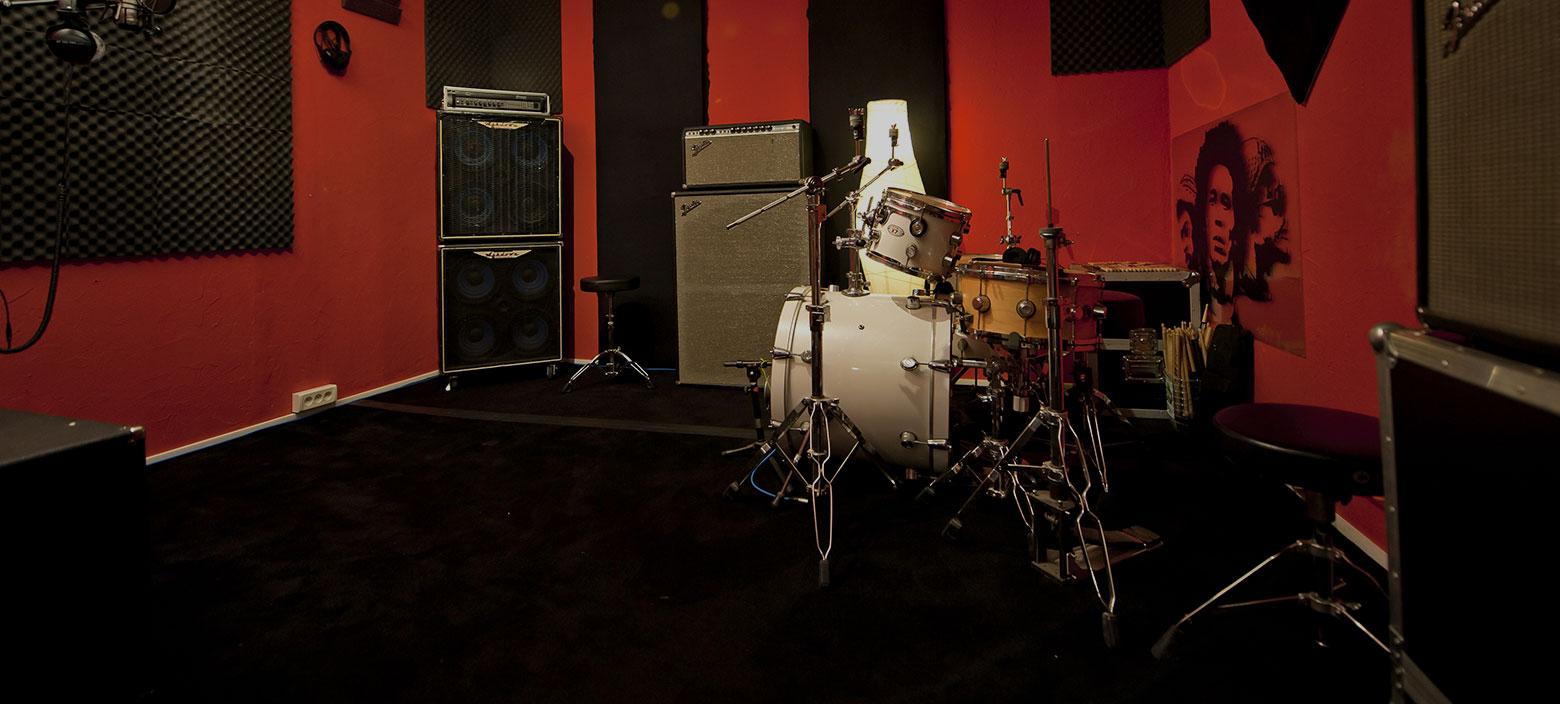 image de la cabine d'enregistrement du studio
